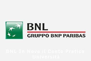 BNL In Novo il Conto Pratico Università BNL