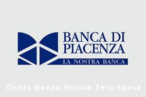 Conto Banca di Piacenza Online Zero Spese - Caratteristiche e costi