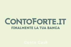 Conto Cash di ContoForte