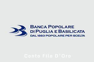 Conto Filo D'Oro Banca Popolare di Puglia e Basilicata