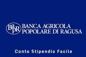 Conto Stipendio Facile Banca Agricola Popolare di Ragusa
