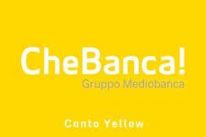 Conto Yellow di CheBanca!